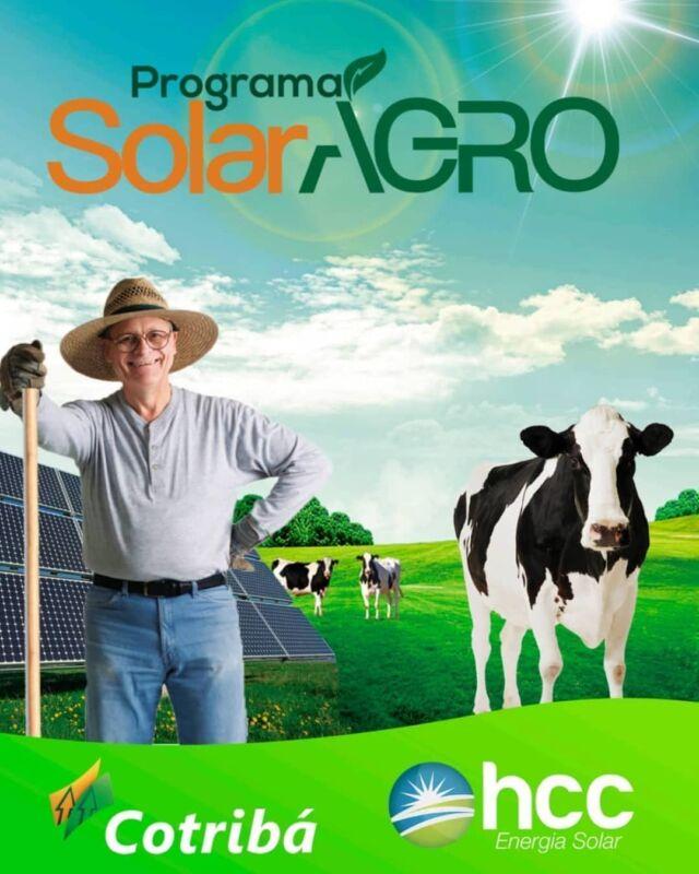 Programa Solar Agro: a parceria entre a Cotribá e a HCC para incentivar o agronegócio a garantir a eficiência de suas operações por meio da economia e sustentabilidade. 👨🏻🌾 Energia solar para ampliar a produção.☀️ Contato (54) 99923-1996