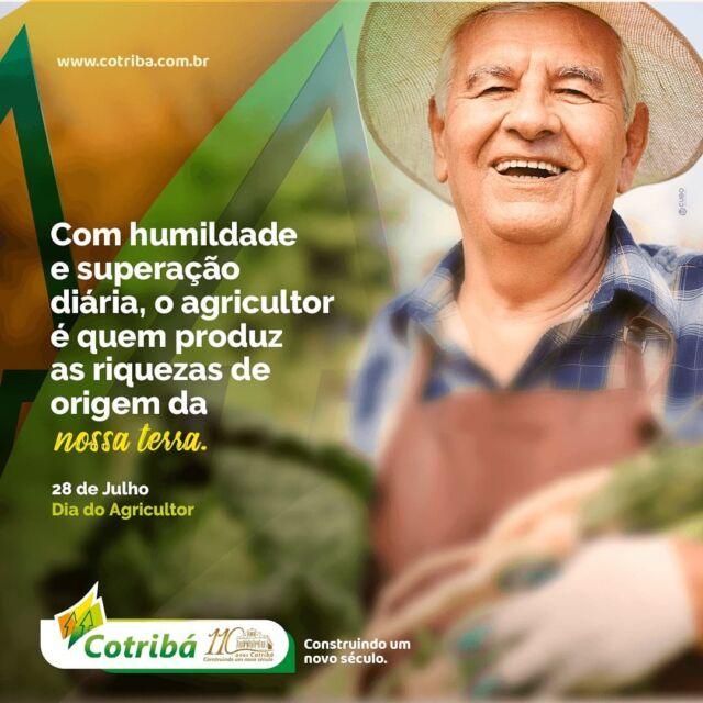 Parabéns a todos os agricultores e agricultoras que fortalecem e semeiam a riqueza deste país! 28 de Julho – Dia do Agricultor!